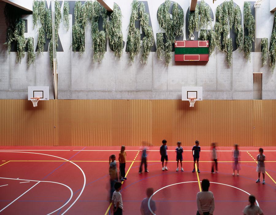collège Mûriers_vue salle de gym
